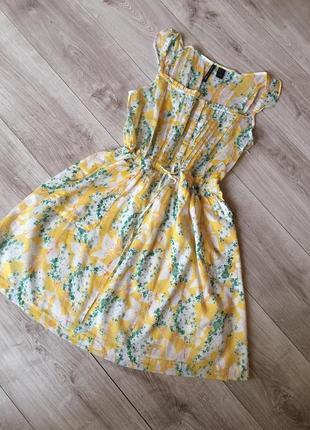 Батистовое платье сарафан mango  пляжная туника платье сарафан  mango