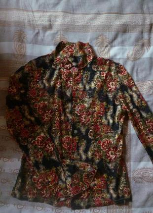 Легкая блузочка в цветочный принт