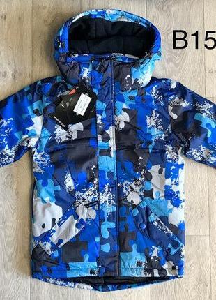 Куртка зимняя теплая непромокаемая мембранная от 98 до 164 р. подростковая