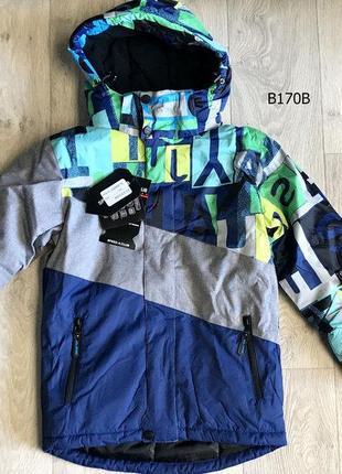 Куртка зимняя теплая непромокаемая мембранная от 98 до 134  р. подростковая