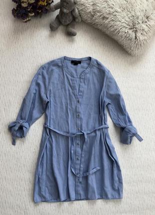 Удлиненная рубашка голубого цвета l- размер
