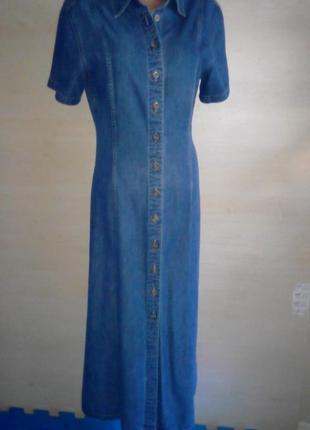 Джинсовое длинное платье .marks&spencer.