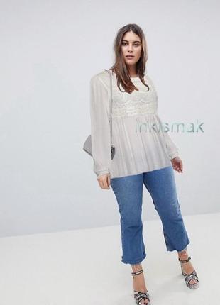 Длинная блуза next uk 16 вискоза