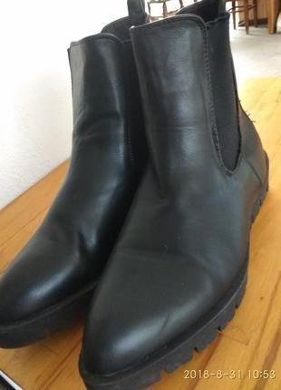 Кожаные челси, ботинки деми