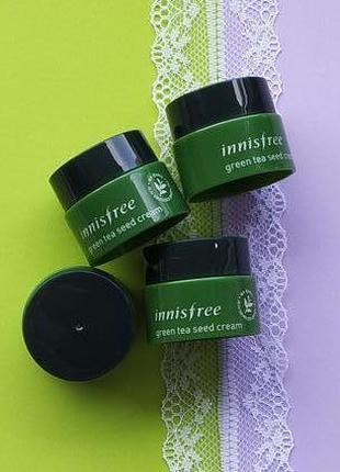 Интенсивный увлажняющий крем на основе семян зеленого чая innisfree 5 мл