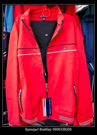 Спортивный костюм от турецкого бренда tommy hilfiger (255) цвет: красный/синий