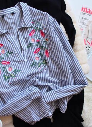 Рубашка с вышивкой в полоску atmosphere
