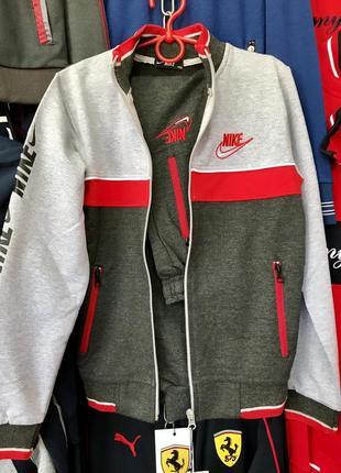 Спортивный костюм от турецкого бренда nike (251) цвет: красный/синий и синий/чёрный