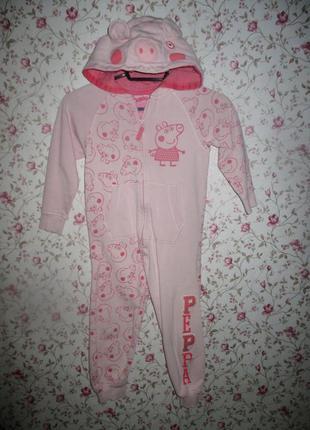Домашний костюм, слип c веcелой пеппой от next, рост 104-110 см