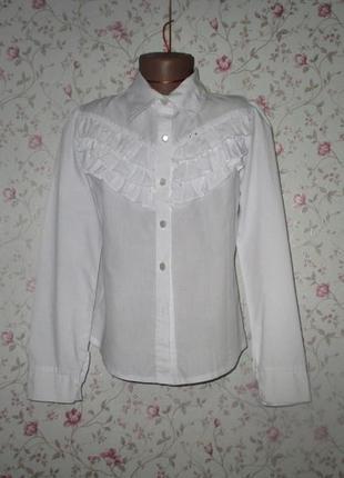Школьная блузка, рубашка рост 146 -152 см