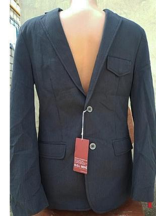 Стильный новый пиджак для мальчика  gol® германия р.170 , цвет графит