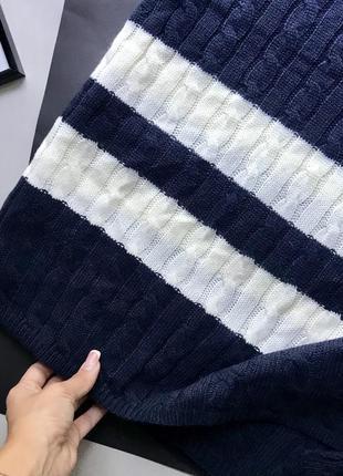 Оригинальный синий шарф tommy hilfiger / плед tommy hilfiger