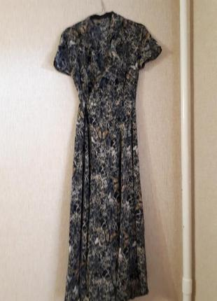 Платье/халат, домашнее платье на запах