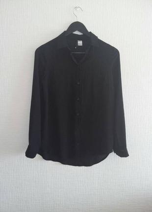 Черная шифоновая блуза h&m