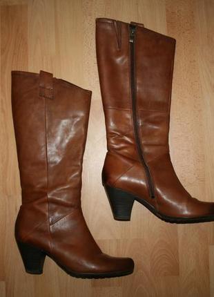 Сапоги кожаные фирменные marco tozzi 39-40 размер, германия