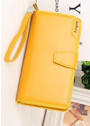 Женское портмоне baellerry business woman желтый