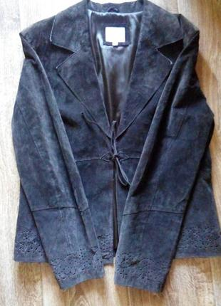 Куртка замшевая из натуральной кожи