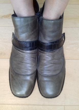 Ботинки кожаные зимние rieker. германия. 25 см