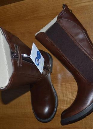 Кожаные демисезонные сапоги geox sofia, размер 28