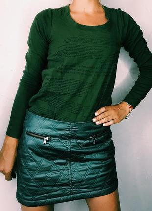 Стёганная юбка потрясающего цвета bershka