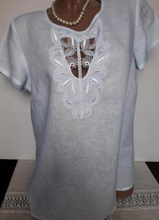 Блуза 100% лён!!!!!актуальная модель...