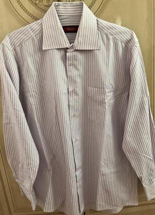 Мужская рубашка в полоску размер л 41-42 оригинал baruch linea classica