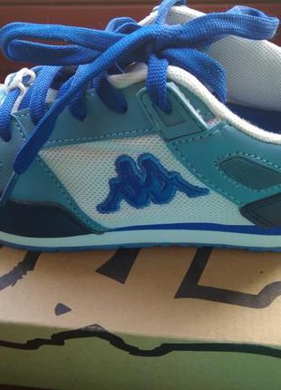 Кроссовки синие с белым бренда kappa,размер 36