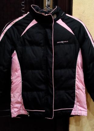 Зимняя спортивная куртка пуховик  (на пуху)