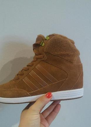 Кроссовки сникерсы adidas neo-оригинал, натуральная замша.