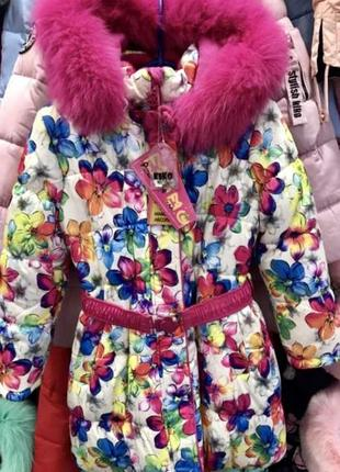 Пальто для девочки кико на тинсулейте зима 2018