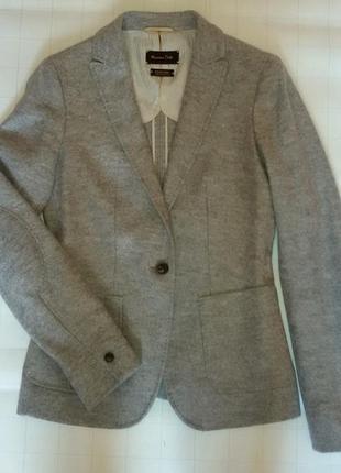 Пиджак, жакет, натуральная шерсть