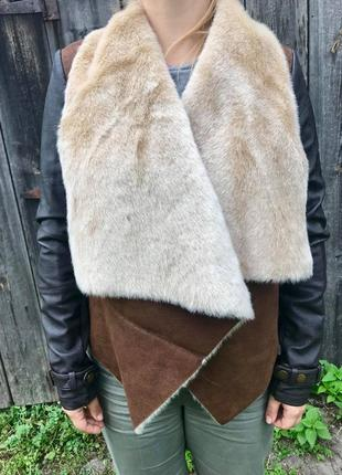 Куртка із штучного хутра river island, дублянка