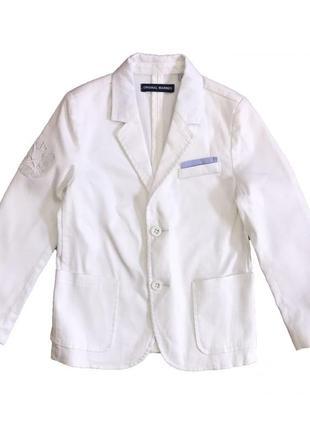 Новый классический белый пиджак для мальчика, original marines, 233999
