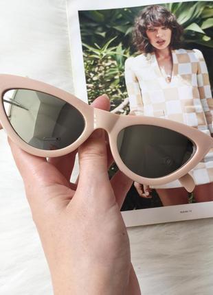 Очки, окуляри, имиджевые очки, стильные очки, кошачий глаз, пудра, пудровые очки