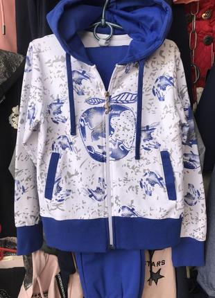 Модель: трикотажный костюм сапфир.bd(1669) наличие: есть в наличии.цвет:бело-голубой.