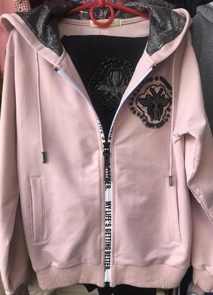 Модель: трикотажный костюм сапфир.bd(1669) наличие: есть в наличии.цвет:розовый пудра