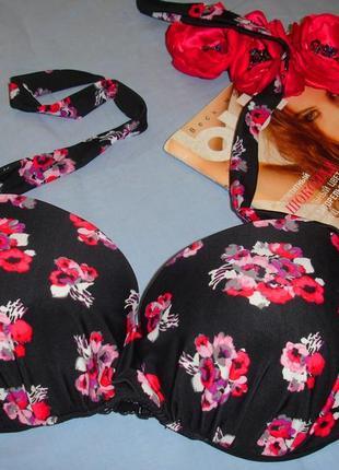 Верх от купальника раздельного топ лиф бюст чашка 75d 75 d 75д черный красный розовый