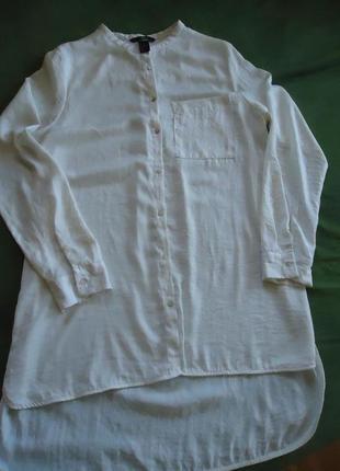 Блуза платье -рубашка с удлиненной спинкой