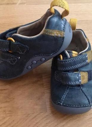 Кожаные ботинки clarks ботиночки мокасины туфли