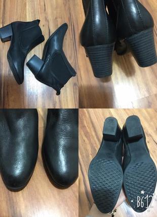 Фирменные, кожаные, базовые ботинки челси, супер удобные, вечная классика !!!2 фото