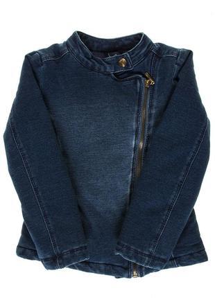 Джинсовая утепленная деми-куртка  для девочки idexe италия, р.128, 7-8 лет