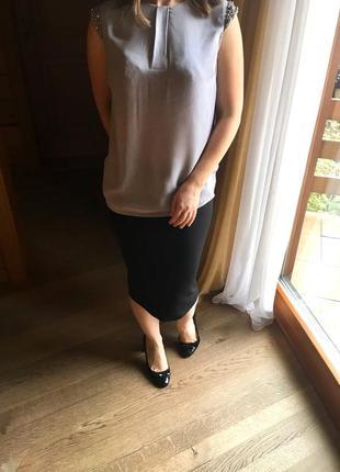 Нарядная блуза с бусинками new look