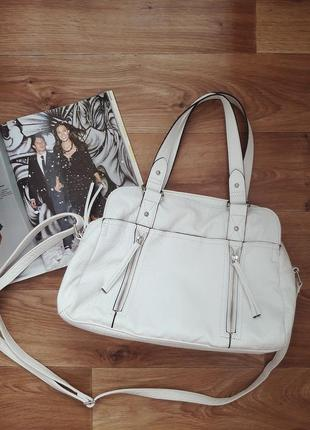 Белая сумка f&f, сумка с короткими ручками