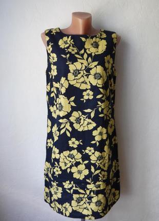 Красивое платье лен+вискоза