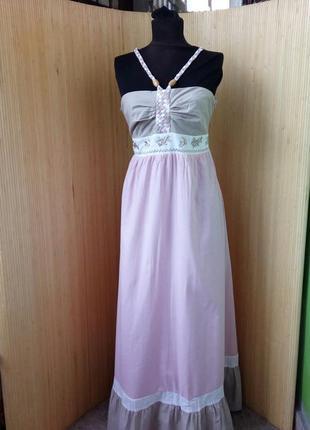 Нежное платье сарафан тонкий хлопок