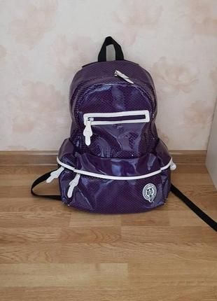 Рюкзак для девочки старшеклассницы oxford фиолетовый лаковый