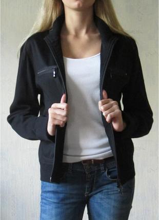 Черная кофта-куртка baon