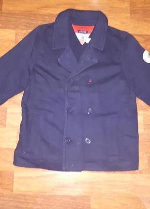Трикотажный пиджак в школу 122см