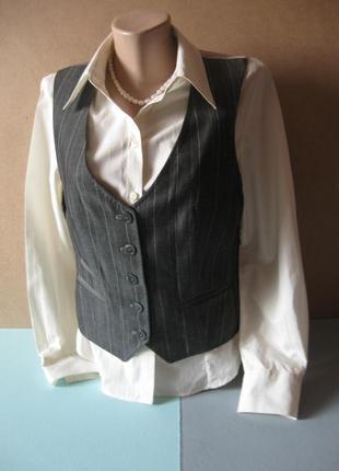 Базовая рубашка-блуза молочного цвета под запонки!