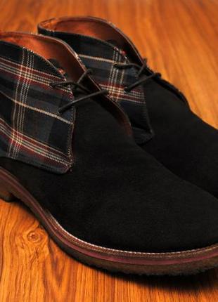 Мужские ботинки туфли натуральный замш кожа pedro del hierro made in spain